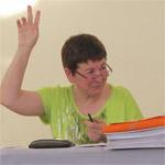 La présidente Patricia Verhaeghe